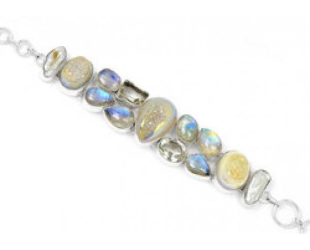 jewels stainless steel handmade jewelry gemstone beaded bracelet