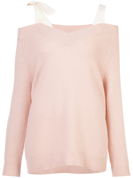 RED VALENTINO jumper women cotton wool purple pink sweater