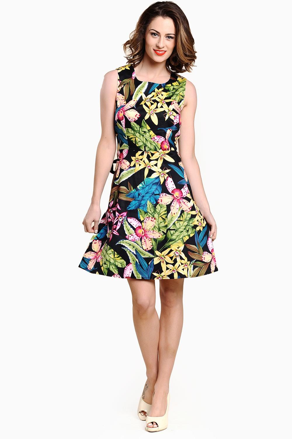 Annie Tropical Print Dress