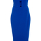 Textured crepe strapless cut out dress | moda operandi