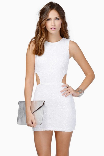 dress white open back