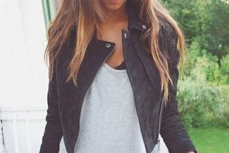 black leather jacket sipper buttons jacket