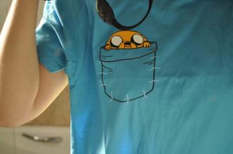t-shirt top blue clothes adventure time cute