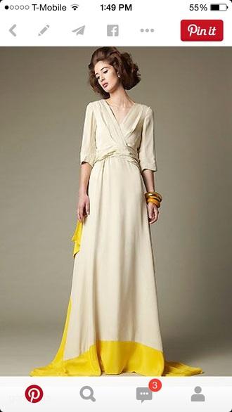 dress flowy yellow dress sun dress maxi