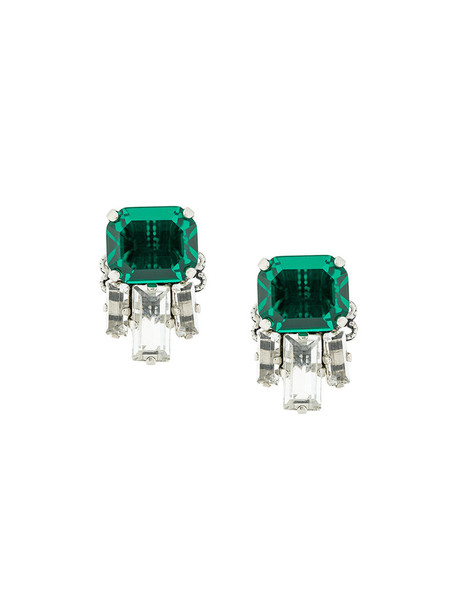 RADÀ women embellished earrings stud earrings green jewels