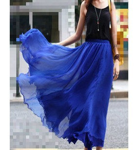 Skirt fashon skirts Long Skirts Chiffon by fashiondress6
