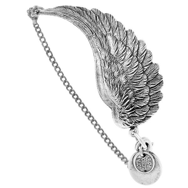 """Bracelet """"rock"""" argentã© motif """"aile"""""""