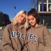 sweater,shirt,hoodie,oversized sweater,beige,ubc,pullover,nude,brown