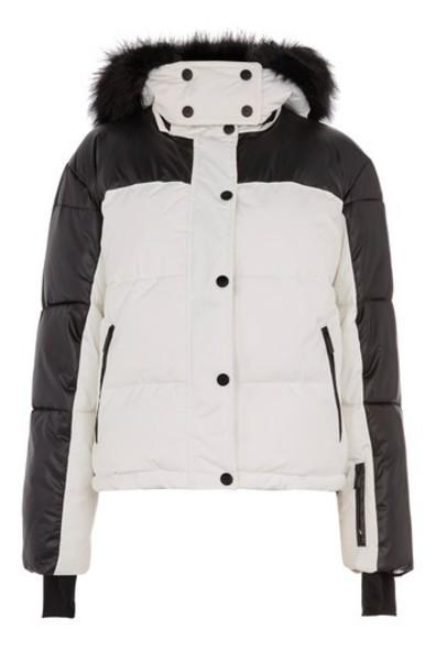 Topshop jacket puffer jacket monochrome