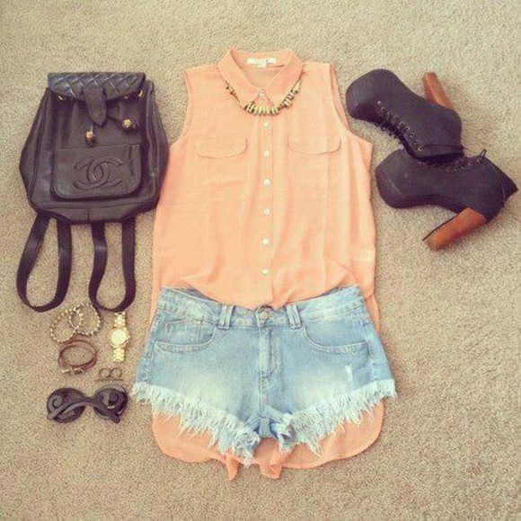 shirt pastel pink pale pink chemise pink shirt pastel pink sleveless cute orange tank top shoes bag satchel denim shorts coral high-low jeffrey campbell sleeveless blouse shoes #black shorts short #jean t-shirt t-shirt #pink peach long top orange little black boots pastle sweet cute summer summer summer outfits orangy peachy tank top