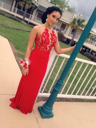 dress red dress prom dress lace dress