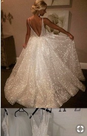 dress,sparkle,sparkly dress,white,white dress,sexy,sexy dress,princess dress,prom dress,prom gown,prom,long prom dress,long dress