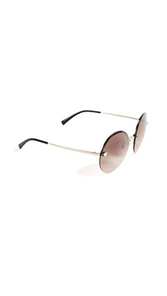 sunglasses pale gold brown