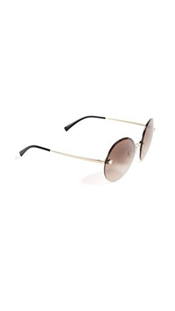 VERSACE sunglasses pale gold brown