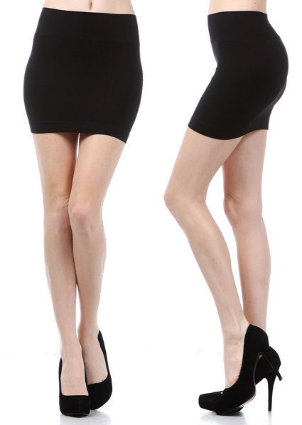 Mini skirt seamless stretch tight short fitted body con clubwear