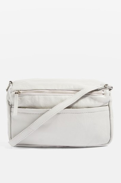 cross light bag leather grey