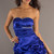 Satin Skirt Ball Gown Crystals Blue Picks Up Prom Dress - Promdresshouse.com