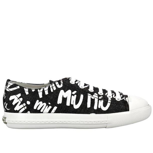 Miu Miu sneakers. women sneakers shoes black