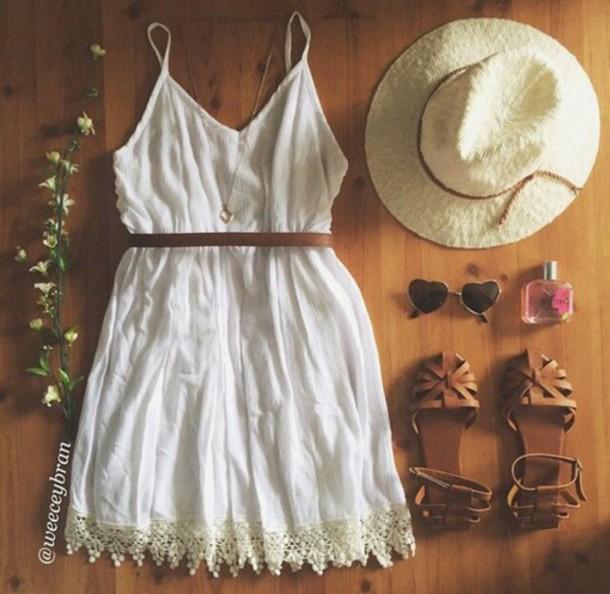 dress hipster shoes white dress sundress boho dress cream/white dress
