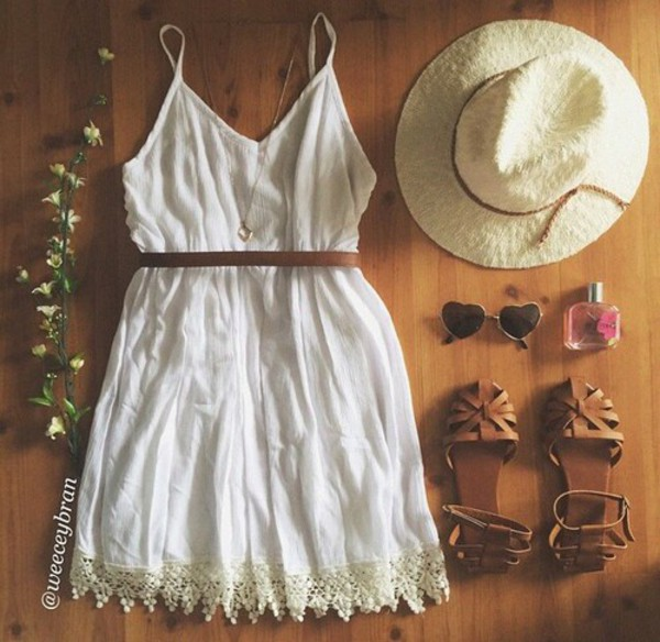 dress hipster shoes white dress sundress boho dress cream/white dress
