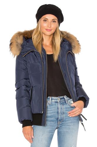 jacket fur navy