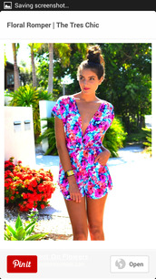 shorts,floral,romper,romper #bow #floral,cute outfits,clothes,pinterest,spring,bright