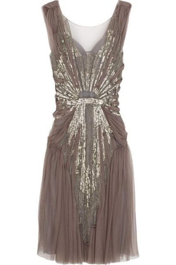 brown dress gold sequins sparkle sparkle sheer vintage casual chic classy fashion prom lovely sparkle skirt gorgeous jenny packham dusty pink dress taupe prom dress vintage dress sparkly dress gold sequins the great gatsby 1920s dress style sparkly dress pinterest boho dress taupe beaded vintage dresss sequin dress