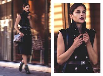 the fashion fraction blogger coat bag belt shoes