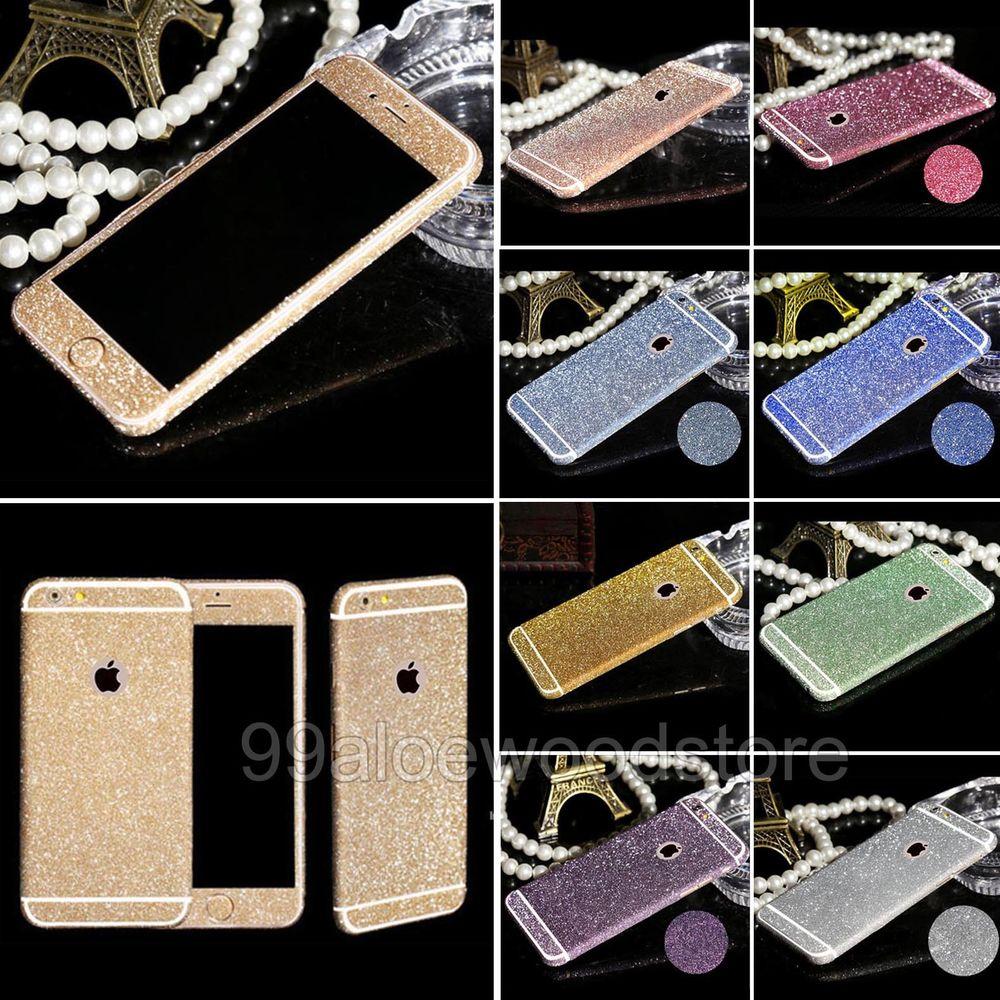New Luxury iPhone 4 5S SE 6 6Plus Glitter Bling FULL Body Sticker Skin Protector