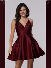 dress,burgundy