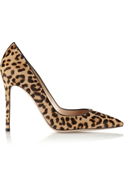 Gianvito Rossi hair 100 pumps print leopard print shoes