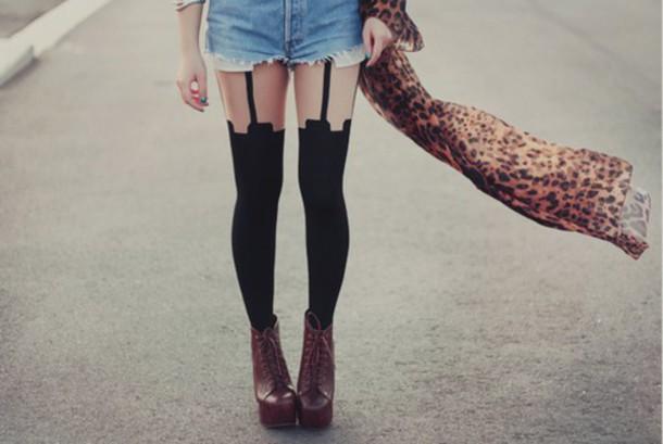 leggings tights black