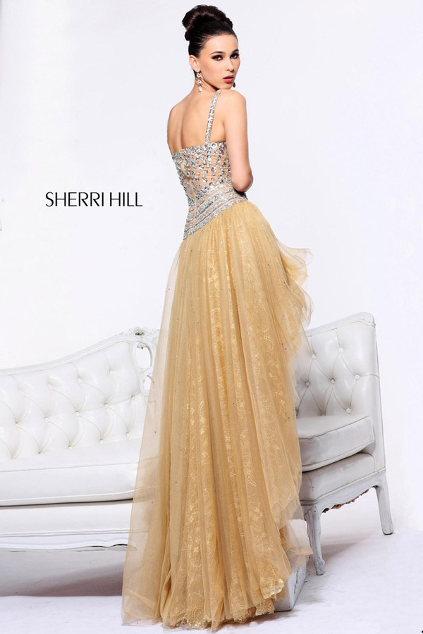 dress prom dress gold sequins