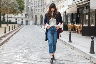 meet me in paree blogger coat cropped jeans fur coat
