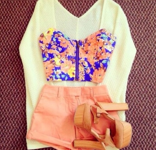 blouse cream tank top