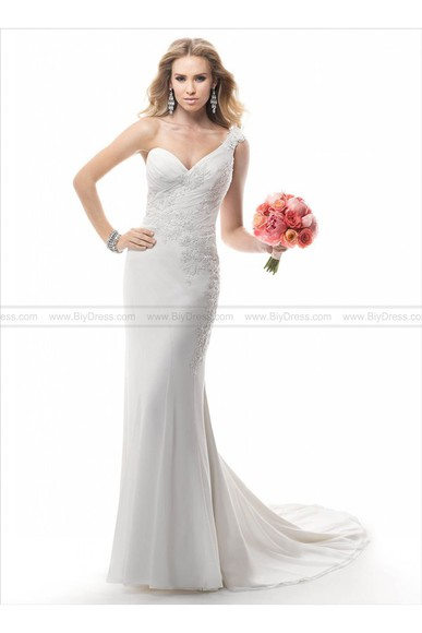 one shoulder wedding dress bridal gowns