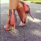 shoes,sandals,heels,high heel sandals,multicolor
