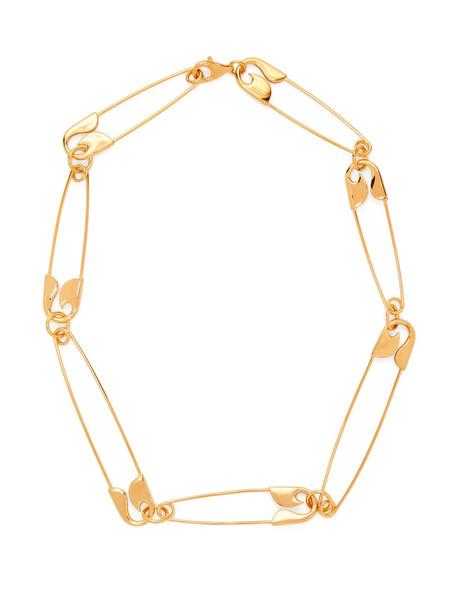 BALENCIAGA Safety-pin necklace in gold