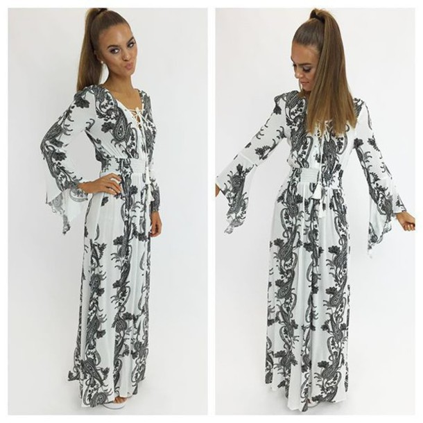 f5eac2e7d4f dress maxi dress floral floral maxi dress white floral black floral long  sleeve maxi long sleeve