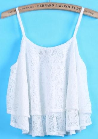 shirt white crop tops lace white lace girl summer beautiful outfit fashion purse shorts jewelry summer shirt blouse sheinside