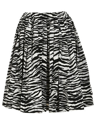 skirt pleated skirt pleated tiger tiger print print black