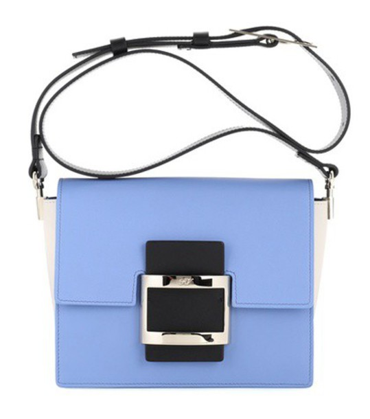 Roger Vivier mini bag shoulder bag leather blue