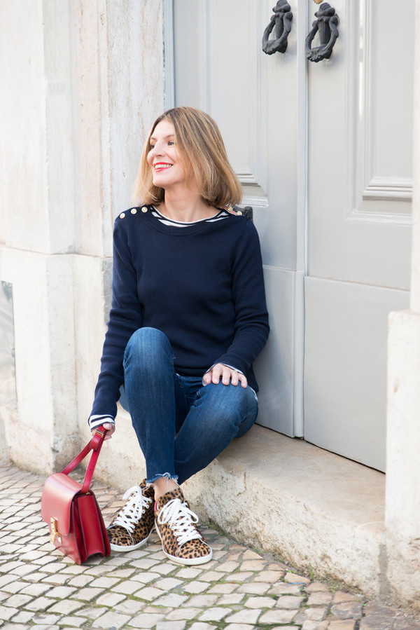 the working girl blogger top jeans bag petit bateau sweater shoes