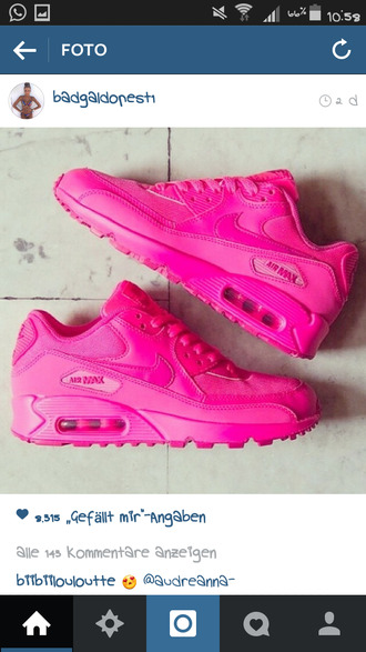 pink shoes rosa nike airmax nike air