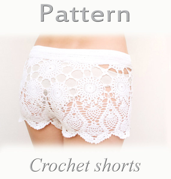 PATTERN Crochet beach shorts in cotton  PDF crochet by katrinshine
