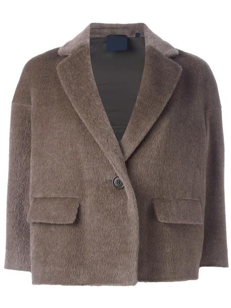 jacket cropped jacket cropped women nude wool