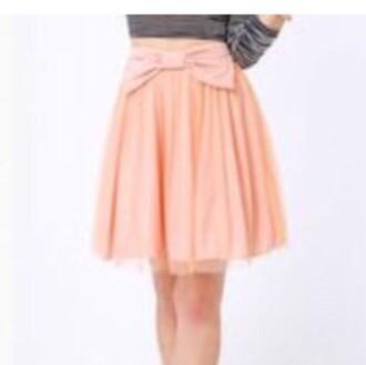 skirt pink pink skirt midi skirt salmon coral bow