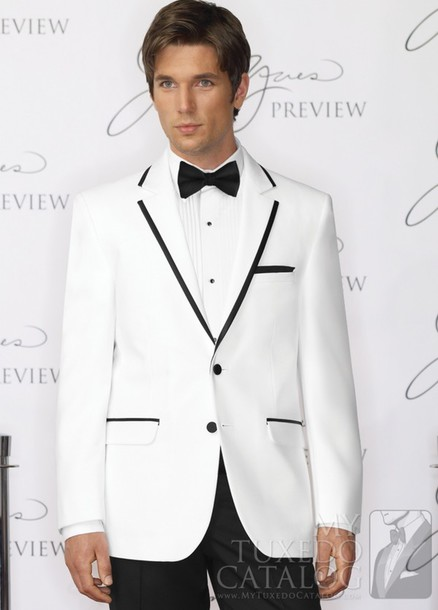 jacket white on black tuxedo