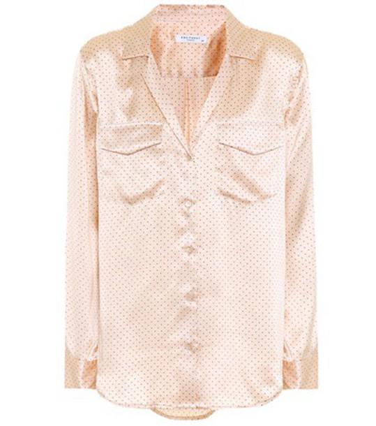 Equipment shirt silk pink top