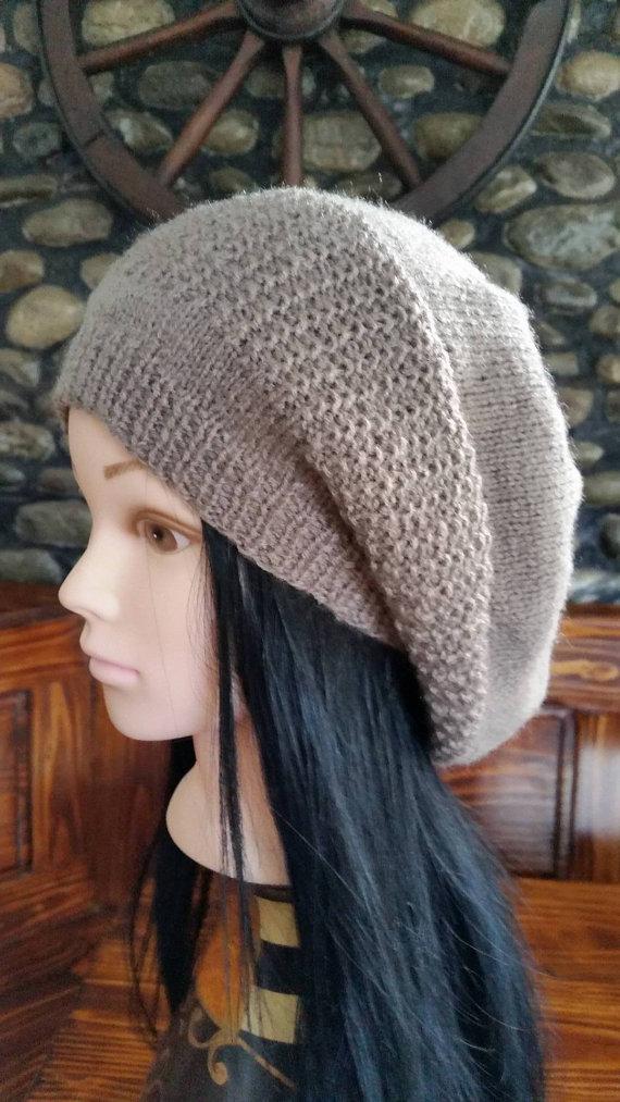 4405b68860e Light Brown Women oversized hat -Women Winter Slouchy Hat ...